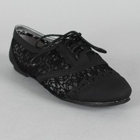 Misbehave Messina-19 Lace Oxford Flat