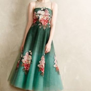 Prima Tulle Dress by NOIR Sachin & Babi Green Motif