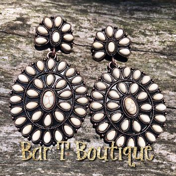 White Squash Blossom Earrings