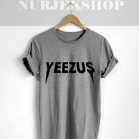 Yeezus Tour Shirt Kanye West Tour Tshirt Unisex Size Black Gray or White Color Shirt
