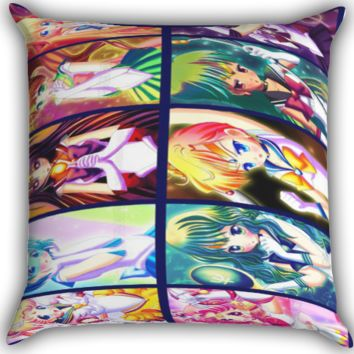 The Princess Sailormoon All Character Zippered Pillows  Covers 16x16, 18x18, 20x20 Inches