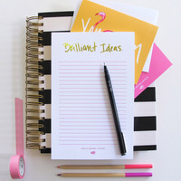 Ashley Brooke Designs- Brilliant Ideas Notepad