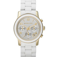 Michael KorsWhite Midsized Chronograph Watch - Michael Kors