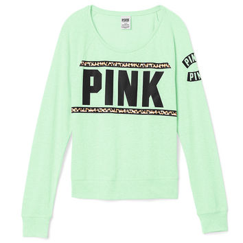 Bling Long Sleeve Raglan Tee - PINK - from Victoria's Secret