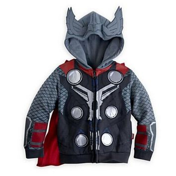 Top quality cool long sleeves coat Hooded Spiderman Batman Captain America Jacket Outwear for children boys