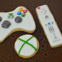 Xbox Controller and Wii Remote cookies