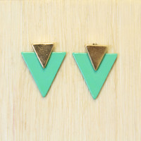 Mint Spearhead Earrings