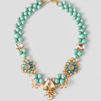 AVALON FLORAL GLASS BEAD NECKLACE