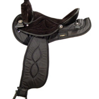 Big Horn Black or Brown Synthetic Saddle Gaited Horse