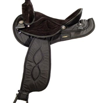 """Big Horn Black or Brown Light Synthetic Saddle 16"""", 17"""" Seat"""