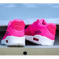 NIKE AIR MAX 90 fashion ladies men running sports shoes sneakers F-PS-XSDZBSH Deep Rose red