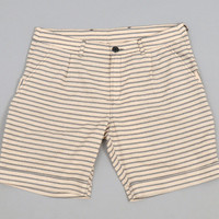 a kind of guise - morelos shorts wild dove grey stripe