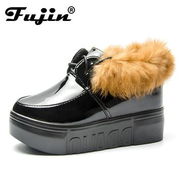 Fujin Fashion Warm Snow JBoots 2018 Heels Winter Boots New Arrival Women Ankle Boots Women Shoes Fur Plush Insole Shoes