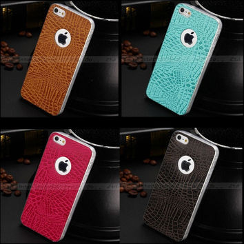 Fashion Soft TPU Snakeskin Pattern Case Cover For Apple iPhone 5 iPhone 5S Back Cases Protection Cell Phone Shell