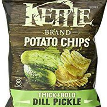 Kettle Brand Potato Chips - Dill Pickle - Case Of 24 - 2 Oz.