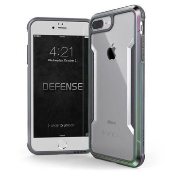 Iphone 8 Plus & Iphone 7 Plus Case X Doria Defense Shield Series   Military Grade Drop Tested Anodized Aluminum Tpu And Polycarbonate Protective Case For Apple Iphone 8 Plus & 7 Plus (iridescent)