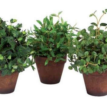 6 Potted Plants - Artificial