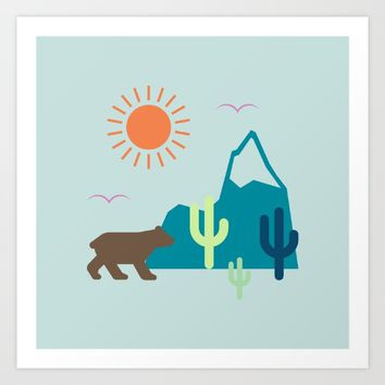 Nature Cactus Art Print by Anonymous