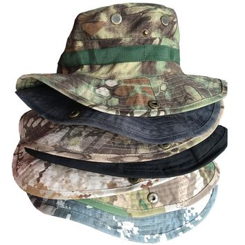 Men's Army Caps Travel Tactical Gear Neck Flap Bucket Hat Sunscreen Soldier Sun Camouflage Military Hunting Camo Python Male