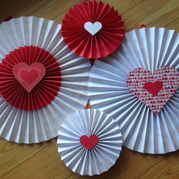 Valentines fan, Paper fan, Pinwheels Wall hanging decor, Paper fan backdrop, love decoration