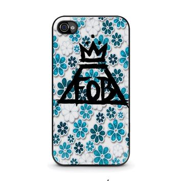 fall out boy floral iphone 4 4s case cover  number 1