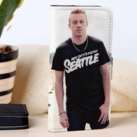 Macklemore | Rapper | Music | custom wallet case for iphone 4/4s 5 5s 5c 6 6plus case and samsung galaxy s3 s4 s5 s6 case