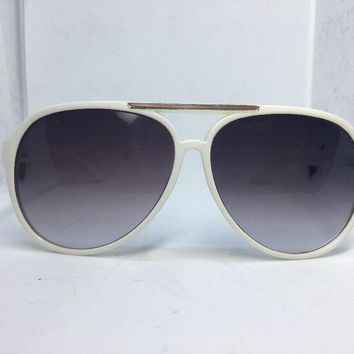 GUCCI Aviator Sunglasses Vintage White with red and green stripes