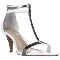 Vince Camuto Makoto T-Strap Sandals, Picket Fence/Silver