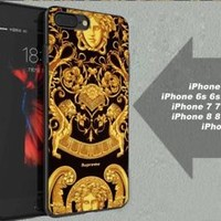 Supreme Logo Medusa Pattern Stylish Fit Hard Case for iPhone 6 6s 7+ 8+ Cover
