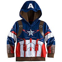 Captain America Costume Hoodie for Boys - Marvel's Avengers: Age of Ultron