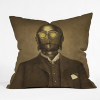 DENY Designs Home Accessories | Terry Fan Baron Von C3PO Throw Pillow
