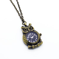 Owl pendant watch