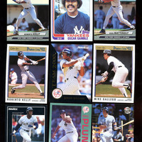 YANKEES Fans Vintage 1982 & 1992 Baseball Card Lot of 9 Topps,Fleer,O-Pee Chee , Pinnacle,features Don Mattingly Oscar Gamble Free shipping