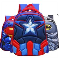 Hot High Quality EVA 3D Captain America children school bags Boy Spiderman school Backpack Suitable for 6-12 years old kids bag