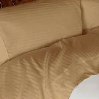 Luxury Bronze Striped - 600 Thread Count Egyptian Cotton Bed Sheet Sets