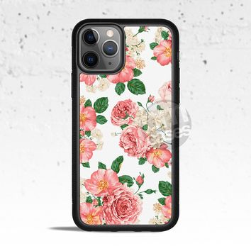 White Floral Phone Case for Apple iPhone