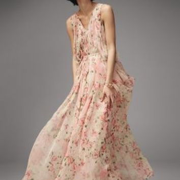 Varun Bahl Sakura Maxi Dress in Pink Size: