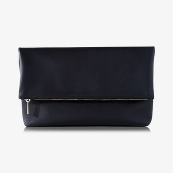 gusset fold-over clutch