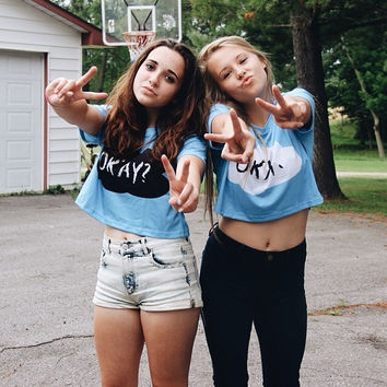 Okay Twinning (Only Making 50) - OKAY. (White) / One Size fits Most