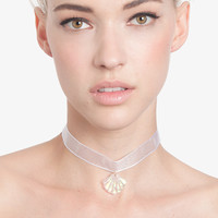 Organza Sheer Ribbon Shell Choker