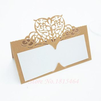 Wedding Table Card Romantic Invitation Card Number