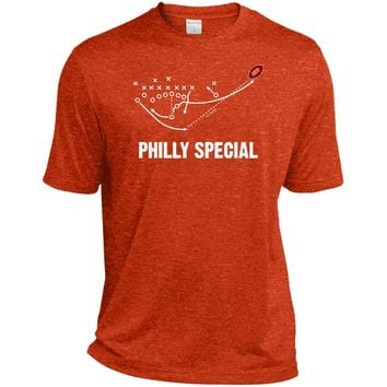 Philly Special Play Philadelphia Eagles Team Super Bowl 2018 T Shirt Football ST360 Sport-Tek Heather Dri-Fit Moisture-Wicking T-Shirt