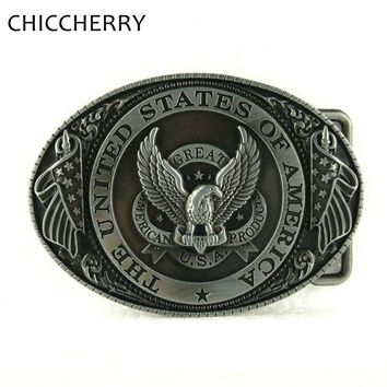 The United States of American Metal Eagle Flag Big Belt Buckle