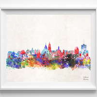 Ottawa Skyline, Canada Print, Watercolor, Ontario Poster, Cityscape, City Painting, Illustration, Art Paint, Wall, Home Decor [NO 412]