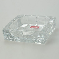 Square Glass Ashtray Transparent - Default