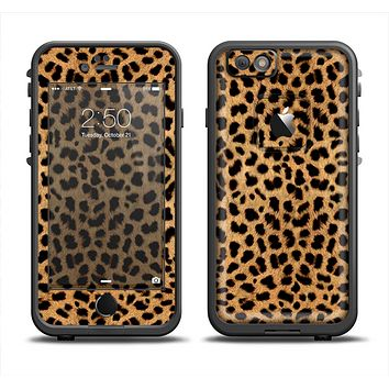 The Orange Cheetah Fur Pattern Apple iPhone 6 LifeProof Fre Case Skin Set