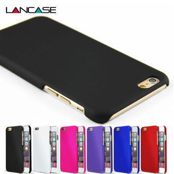 For iPhone 6 Case Fashion Rubberized Matte Frosted Plastic Case For iPhone 6S/6 Plus/6S Plus/5S/5SE/4S Cover Cell Phone Cases