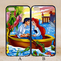 Little Mermaid Lover Couple Case,Custom Case,iPhone 6+/6/5/5S/5C/4S/4