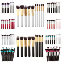 10Pcs Professional Makeup Brushes Set Make Up Powder Brushes Maquillage Beauty Cosmetic Tools Kit Eyeshadow Lip Brushes #BSEL