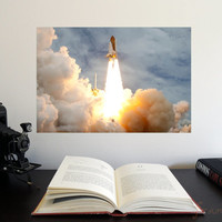 """Final Space Shuttle Atlantis Launch 19"""" x 13"""" Poster - Science Astronomy Wall Art - A Window on the Universe series"""